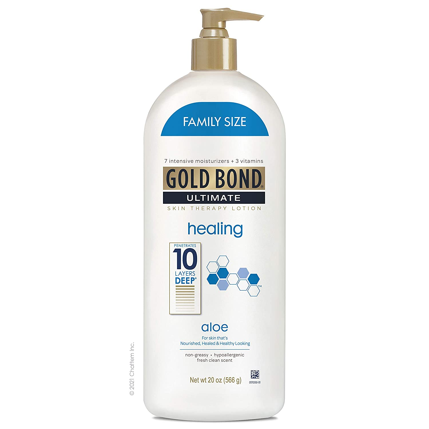Gold Bond Ultimate Healing Skin Therapy Lotion with Aloe Family Size Gold Fresh 20 Ounce